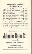 1975 Niagara University Football Schedule 101917jh