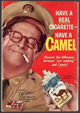 1957 CAMEL CIGARETTE AD~PHIL SILVERS~SGT BILKO ON CBS SERIES~5 X 7 ADVERTISEMENT