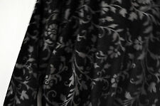 Oscar de La Renta Black Satin & Velvet Pink Label Nightgown Robe Size Small