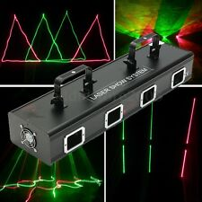 4 Lens 460mW DMX DJ Laser Stage Disco Light Club Party Lighting projector Show