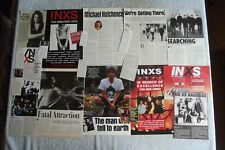 INXS - MAGAZINE CUTTINGS COLLECTION - CLIPPINGS, ARTICLES, PHOTOS X40.
