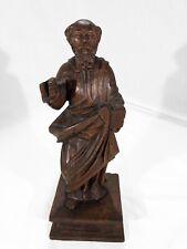 Statue bois Saint religieux Saint Roch ? Art populaire bois 30cm Wood 29cm