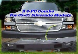 05 06 2005 2006 Chevy Silverado 2500 3500 Insert Billet Grille