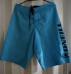 Oneill Men's Board Shorts - Blue with Stripes - Size 30 - Beach/Summer Shorts