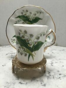Dainty Hammersley Lily of the Valley DEMITASSE TEA CUP & SAUCER