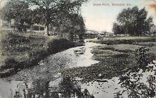 Markesan Wisconsin~Grand River Wagon Bridge~Pony Truss~1911 Postcard