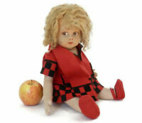 1920's Lenci Doll Moderne Series All Original w/Blonde Curly Hair Red and Black