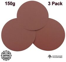 "Klingspor 10"" inch Sanding Disc, 150 grit, 3 Pack, Peel & Stick- Made in Germany"