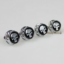Punisher Car License Plate Frame Screw Bolts Cap Cover For Nissan X-trail Model