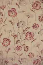 Antique French Curtain drape  Deco Floral Faded English Cottage style textile