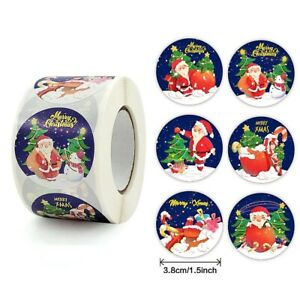Large Merry Christmas Xmas Stickers Presents Gifts Santa Night Sky Snow & Stars