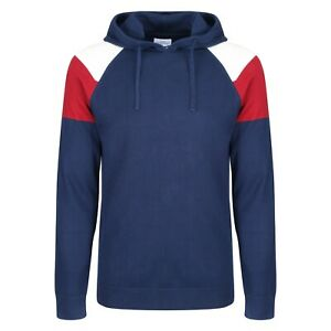 NEXT™ Mens Hooded Jumper New Cotton Long Sleeve Colour Block Panel Hoodie Top