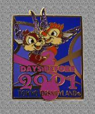 TDL Chip & Dale Pin - 2 Days Before 2001 - Tokyo DIsneyland