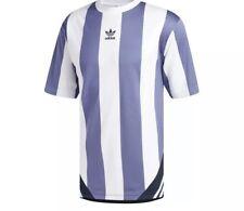 New Adidas Rival Goalie Tee 3 Sz L Striped Soccer Jersey - Raw Indigo / White