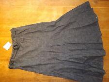 New Ex-BHS Ladies Black Denim 100% Cotton A Line Denim Skirt+ Belt sz 14 (£25)