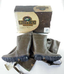 RedHead Bone Dry Fishing Boots Hip Waders Steel Shank Deluxe Insulated Mens 9