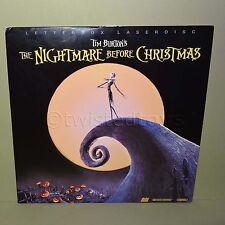 TIM BURTON'S THE NIGHTMARE BEFORE CHRISTMAS LETTERBOX LASER DISC LASERDISC NTSC
