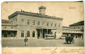 Italy Bologna - La Stazione Railway Railroad Station 1903 postcard