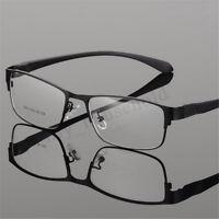 Full Metall Rand Brille Brillenfassung Damen Herren Brillengestell Nickelbrille