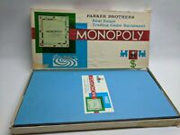 Vintage Monopoly Board Game 1961 Edition Parker Brothers - Nearly Complete.