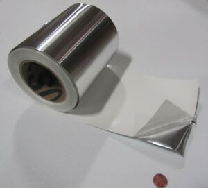 """1100 Aluminum Foil Adhesive Back (O) .002"""" Thick x 6"""" Wide x 100 Feet Long Roll"""