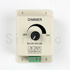 DC 12V/24V 8A Adjustable Switch Dimmer Control For Single color LED Strip Light
