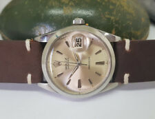 VINTAGE ROLEX OYSTERDATE 6694 SILVER DIAL DATE MANUAL WIND MAN'S WATCH