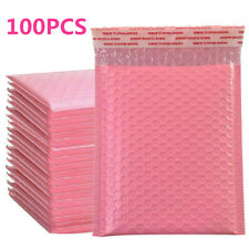50/100X Pink Poly Bubble Bags Mailer Plastic Padded Envelope Shipping Packaging