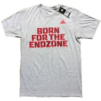 """NWT ADIDAS """"BORN FOR THE END ZONE"""" MEN'S TEE   Color: GREY   Msrp:$22"""