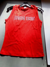 ^    SHANIA TWAIN-medium-red tank top-stud-concert TOUR -official clothing New