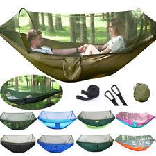 Mehrpersonen Camping Hängematte Zelt mit Zipper Moskitonetz Outdoor Hammock Bett