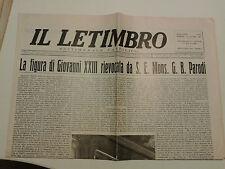 IL LETIMBRO GIUGNO 1963 SETTIMANALE CATTOLICO DI SAVONA  I-8-182