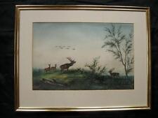 Adolf Rohlfs; Berlín; Tiermaler; Ciervos; Hirschkühe; Caza ; Waidmann 1860