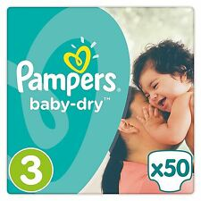 Pampers Baby Dry Couches Taille 3 Essential PACK FLEXIBLE côtés 5kg-9kg Pack de 50