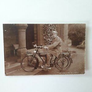 """RARE """" SPARKBROOK MOTORCYCLE. REAL PHOTOGRAPH 1912 V.G CONDITION."""