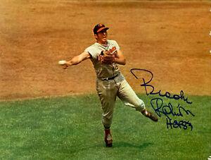 "Brooks Robinson Signed Arena Stadium ""A"" Card 11x14 Cardboard Baltimore Orioles"