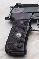 Wilson Combat - Beretta 92/96 G10 Ultra Thin Grips - Checkered - Black Cherry