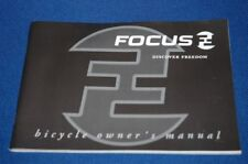 Focus Discover Freedom Bicycle Owner ´s Manual User's Guide Engl German