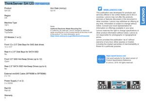 Lenovo ThinkServer SA120 DAS Array NO DRIVE 2PSU 70F10001UX