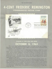 #1187 4c  Remington Stamp  Poster-Unofficial Souv Page Ft w/ArtCraft FDC