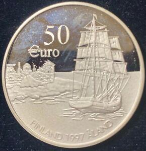Finland 1996 50 Euro 75th Anniversary Autonomy of Aland PROOF KM#200