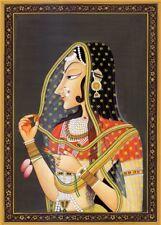 Bani Thani by Nihal Chand, 1700's, Kishangarh. Classic Indian Art Poster