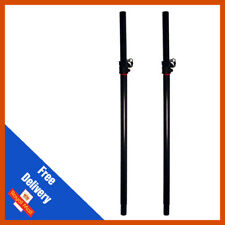 Pair of Stagg Heavy Duty Adjustable PA Satellite Speaker Poles DJ Disco Subs