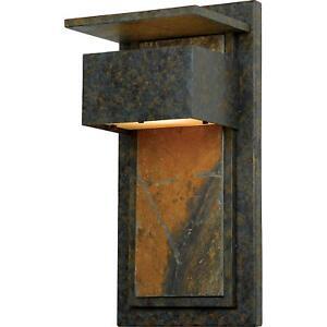Quoizel 1 Light Zephyr Outdoor Wall Lanterns, Muted Bronze - ZP8418MD