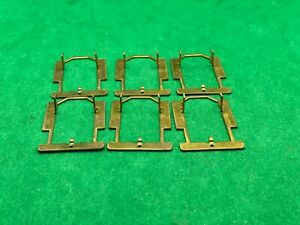 6 ORIGINAL AJ'S, CLIP ON HANDLING PANS FOR AURORA AFX CHASSIS, NEW UNUSED