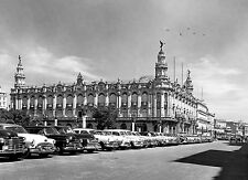Old cars Lined Up Centro Gallego de La Habana 1950  8 x 10 Photograph