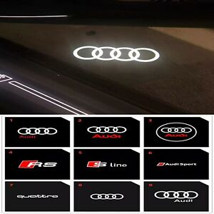 Led Door Welcome Courtesy Puddle Light Projectors For AUDI RS S ETRON R8 2PCS