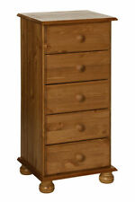 Country Pine 5 Chests of Drawers