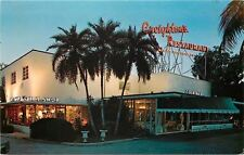 Ft Lauderdale~Creighton' ;s Restaurant~Neon Lights @ Dusk~Gift Shop~1960s Postcard