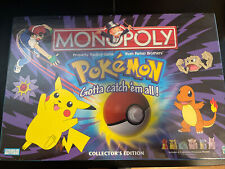 RARE 1999 NEW & SEALED VINTAGE POKEMON MONOPOLY COLLECTOR'S EDITION BOARD GAME!!
